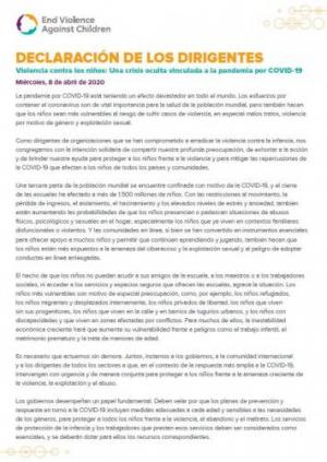 Leaders Statement (Spanish)