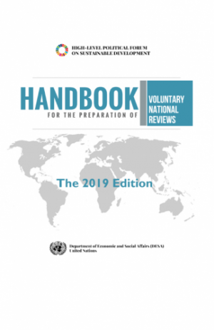 Thumbnail of the HLPF Handbook for Voluntary National Reviews