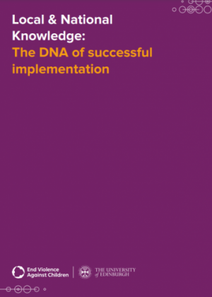 Local & National Knowledge: The DNA of successful implementation