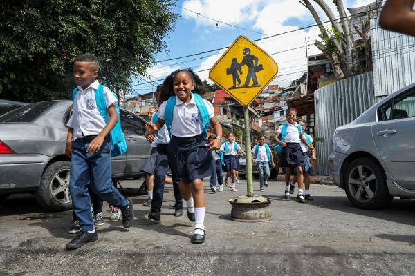 Kids run in Venezuela.